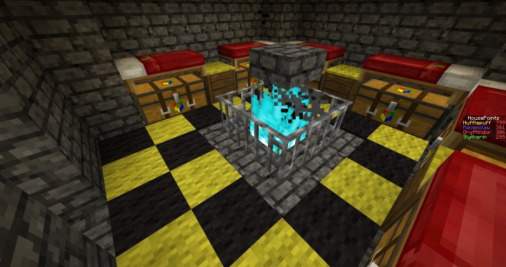 Gryffindor Common Room Minecraft Hogwarts, A minecraft ...