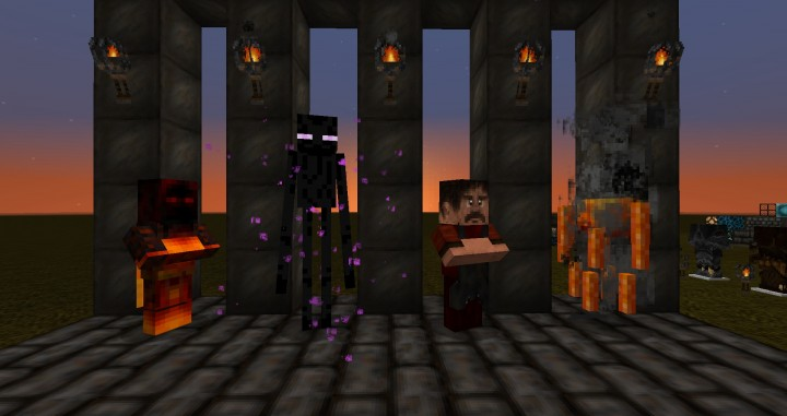 Acolyte Witch, Enderman, Villager and Blaze
