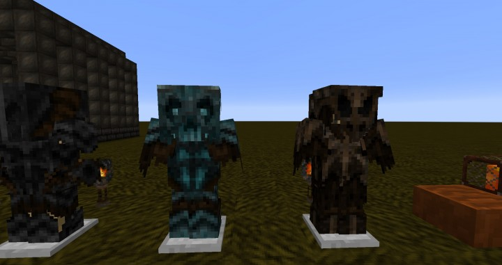 Diamond armor and Gold armor 3