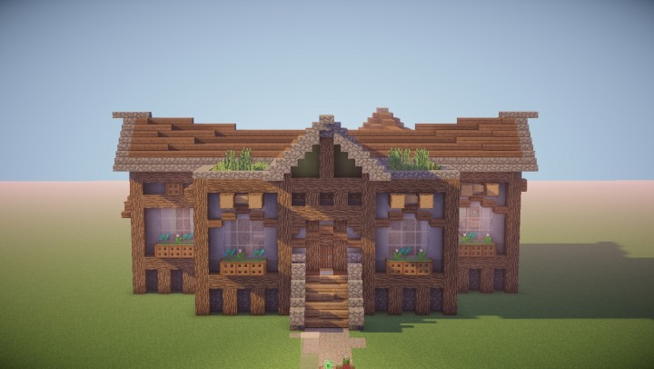 medieval rustic house front part