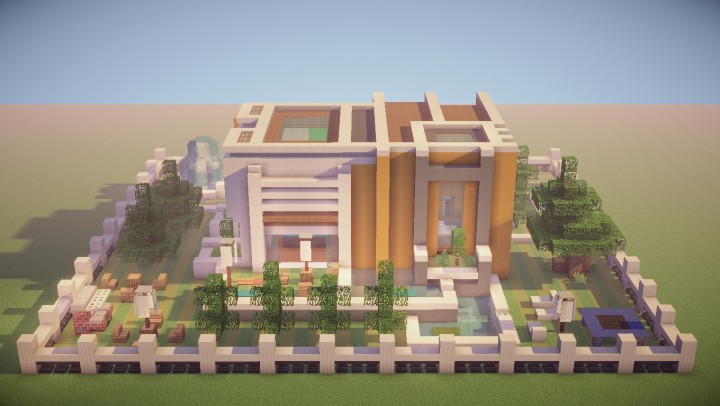 Contemporary Modern 2 Story House Minecraft Project