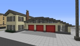 50s Fire Station | UAO Minecraft Map & Project