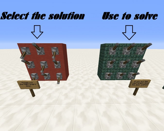 Lever puzzle easy (map maker edition) Minecraft Project