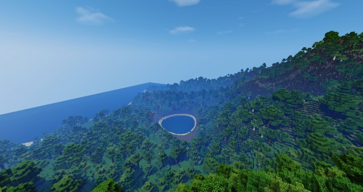 Volcano Island - forest with sea