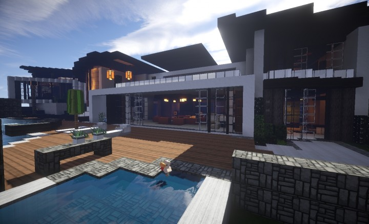 Transcend modern house minecraft project - Minecraft modern house ...