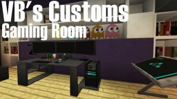 Minecraft Custom Modeling: Gaming Room Minecraft Map & Project