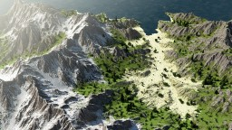 Delharia: A Mountainous Island Minecraft Map & Project