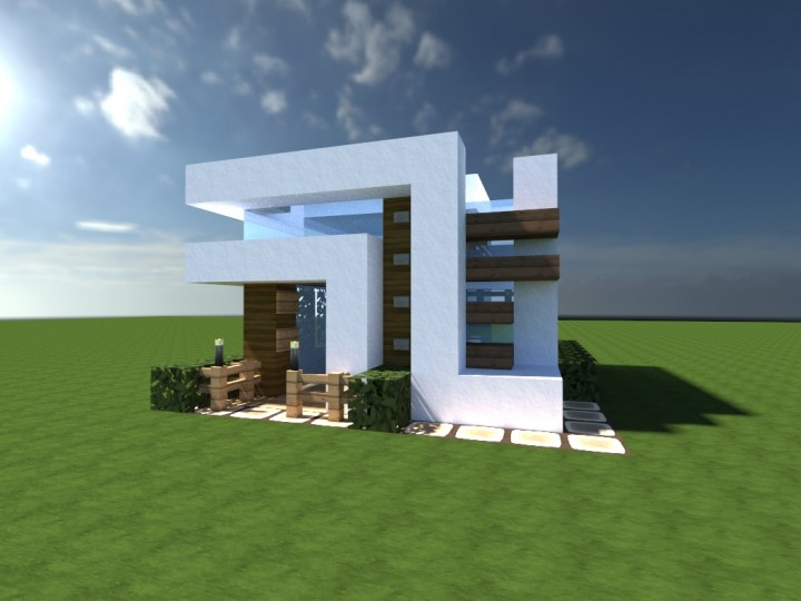 Enderh3art 39 S Small Modern House Minecraft Project