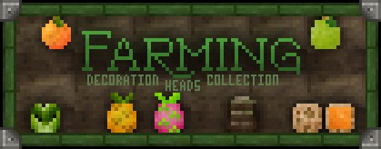 Farming collection decoration player heads schematic minecraft project - Minecraft head decoration ...