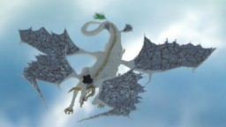 Safira the white dragon Minecraft