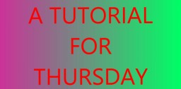 A Tutorial for Thursday #1 - Setting Up a Server! Minecraft Blog Post