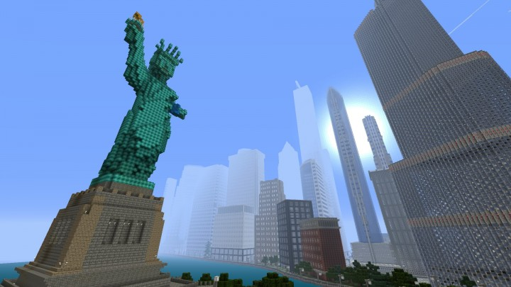 Statue of Liberty and Midtown.... again o