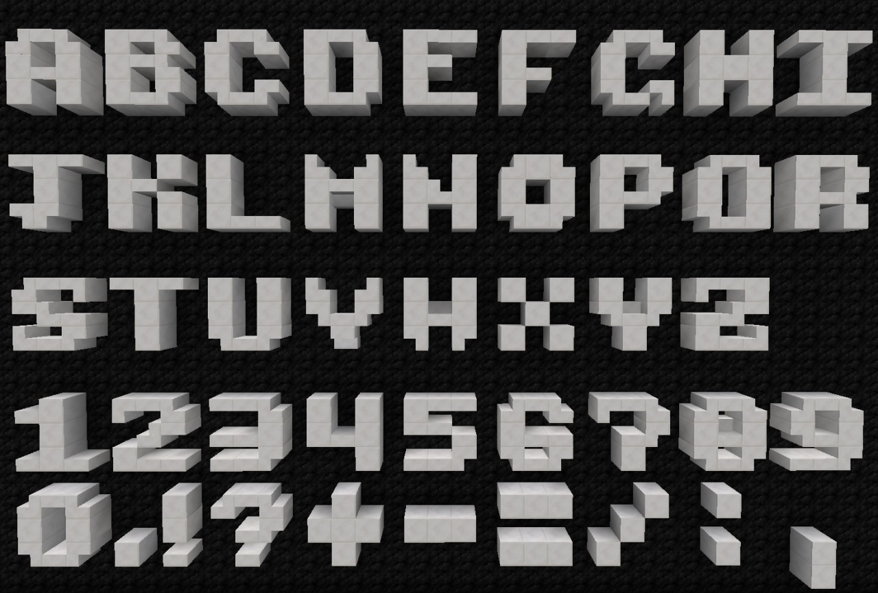 how to make letters in minecraft