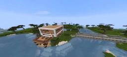Modern Island Home Minecraft Map & Project