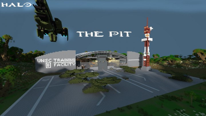 Halo 3) The Pit - PVP MAP Minecraft Project
