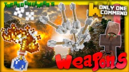 Warfare Weapons with only one command | Molotovs, Landmines & more! Minecraft