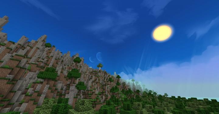 Earth Map -- Eastern Hemisphere -=- Minecraft Project