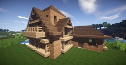 Beautiful Big Wooden House Minecraft Map & Project