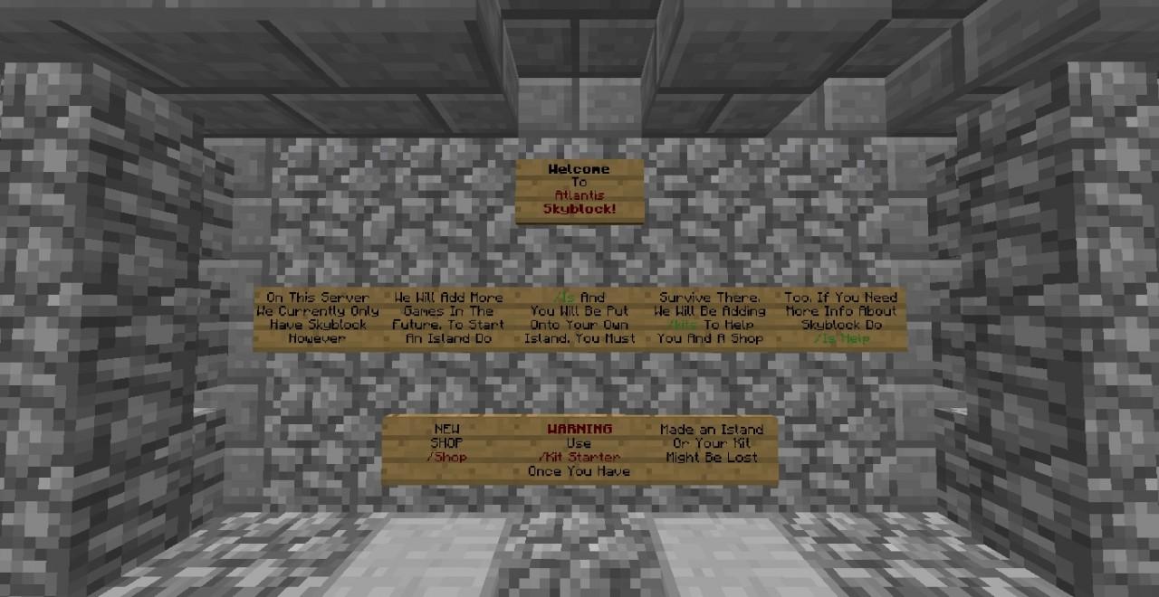 Atlantis Skyblock Minecraft Server