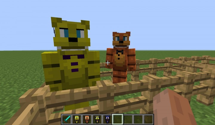 Freddycraft V1 4 Adds Things From Fnaf 1 2 3 And 4 Into Minecraft