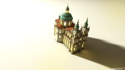 Melk Abbey Baroque Church Minecraft Project