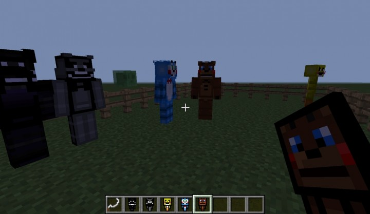 Adds things from fnaf 1 2 3 and 4 into minecraft minecraft mod