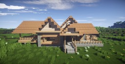 Modern Wooden Mansion Minecraft Map & Project