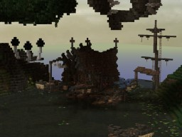 FISHERTOWN (conquest texture pack) a build made on the ravand server Minecraft
