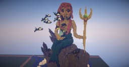 Anestia the mermaid queen and Don Carpington, ruler of the fish mob. Minecraft Project
