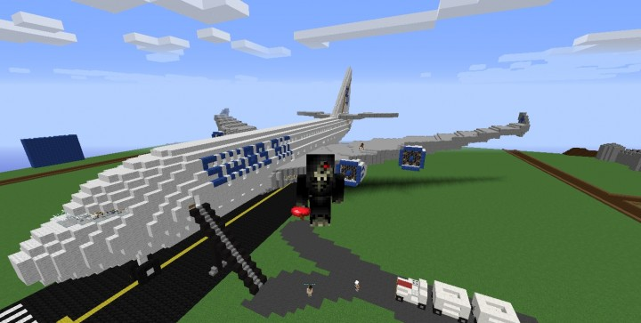 Luxury Plane 3 Floors Flight 420 Minecraft Project
