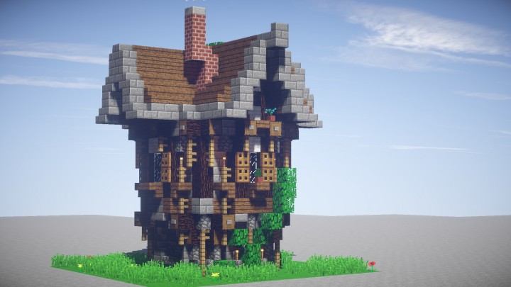 Small Medieval House Schematic Minecraft Project