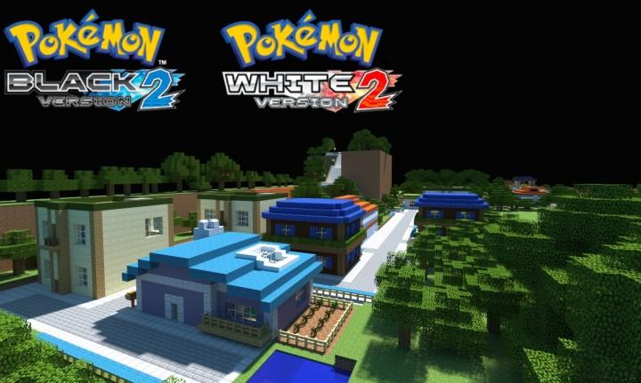 Pokemon Black and White 2 Unova Region in Minecraft Minecraft Project