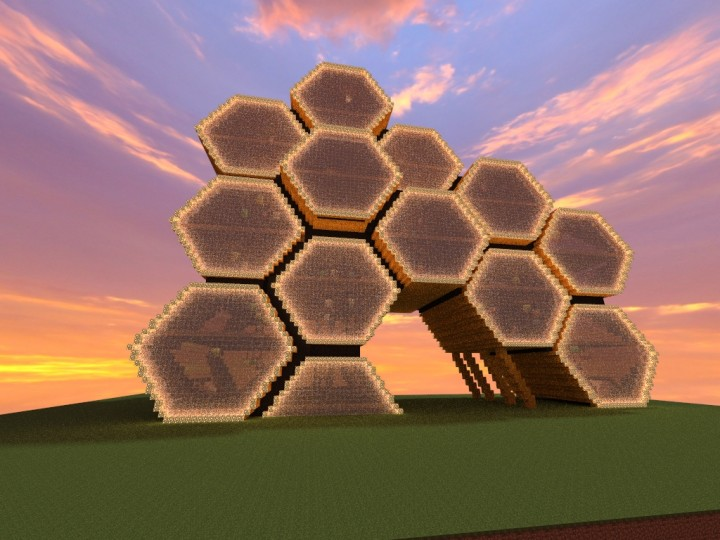 Beehive Office Building Minecraft Project