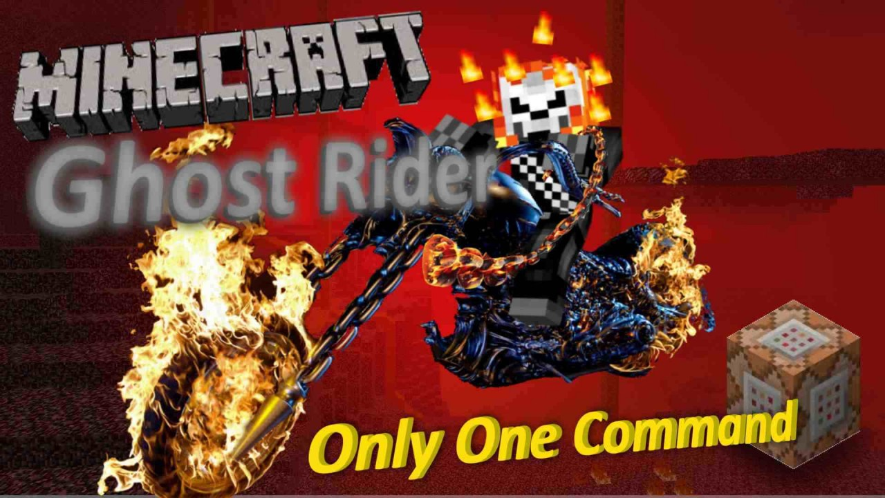 Ghost Rider Only One Command Minecraft Project