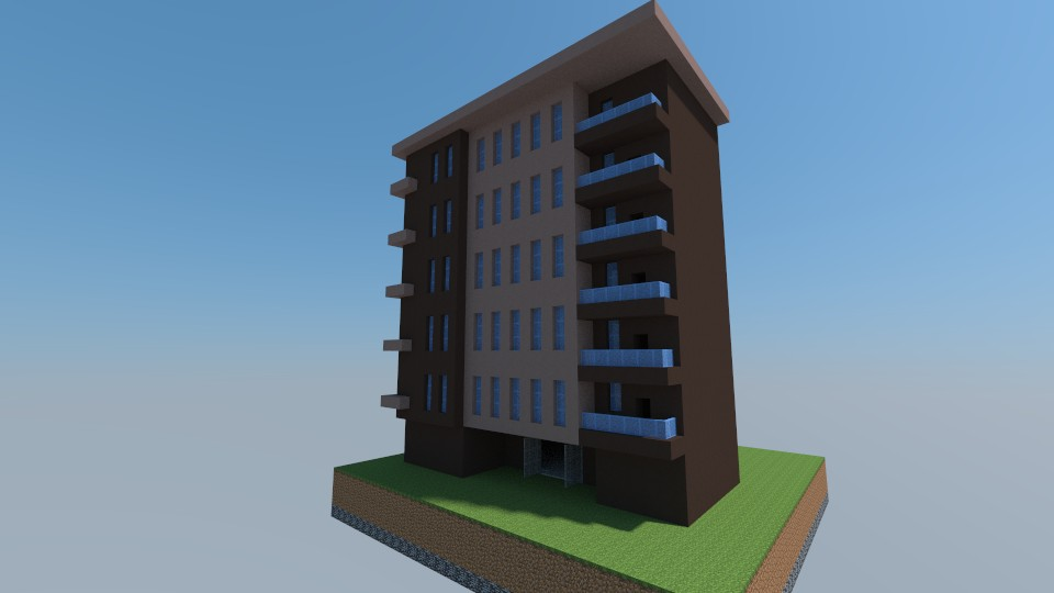 Apartment Building Modern Apartment Building Minecraft Project