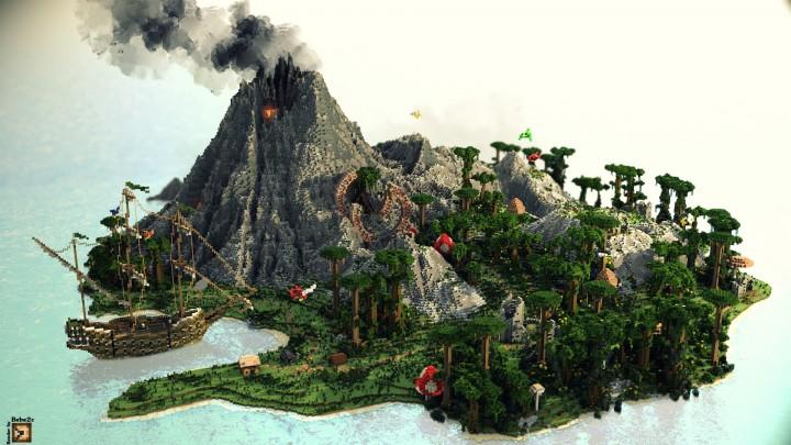 Volcanic Island Minecraft Map