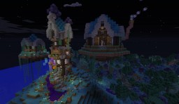 Wizard tower and floating islands