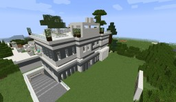 Morden Redstone Smart House Minecraft Map & Project