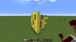 Golden Redstone Creeper Face Minecraft Map & Project