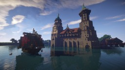 Download the castle set on a lake Minecraft Map & Project