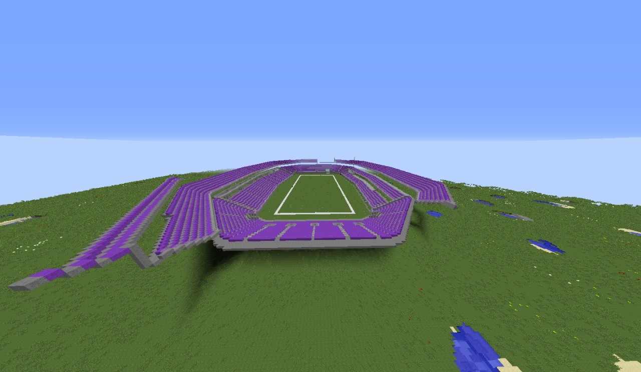 us bank stadium minecraft map project