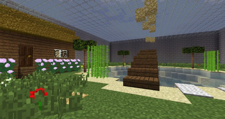 how to make a fishing hole in minecraft