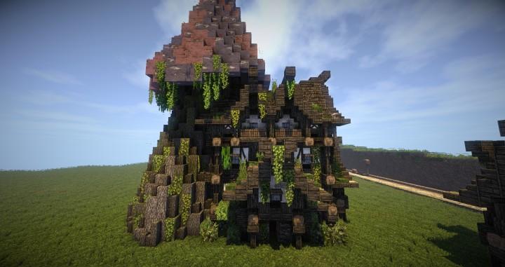 Miekilli Druid Mushroom House Minecraft Project