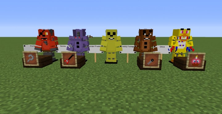 Fnaf 2 pack for my server minecraft texture pack