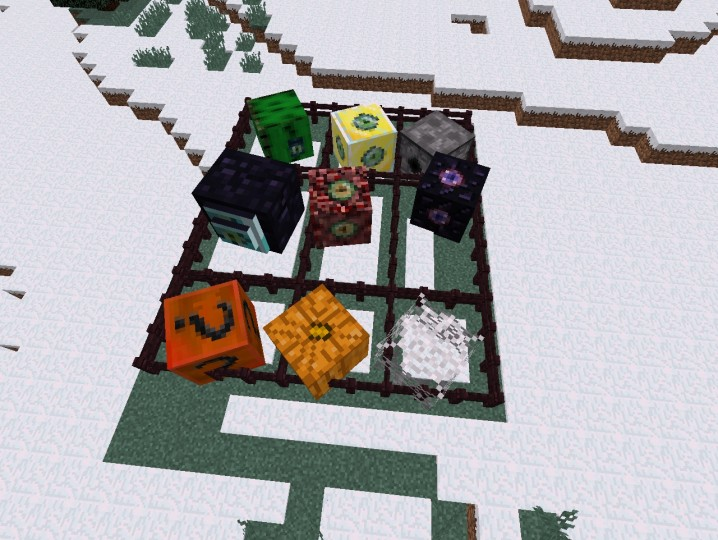 All block monster together in mc 1,8