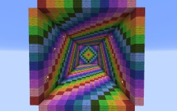 Extreme Rainbow Parkour Minecraft Project