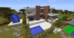 An modern house near a village finish update Minecraft Map & Project