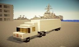 Average Semi-trailer Truck 1:1 Scale Minecraft Map & Project