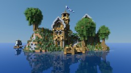 Little Village on an island 'Isle of Sailchester' [Cephyr Application] Minecraft