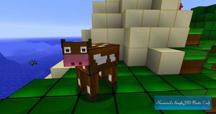 A cow...